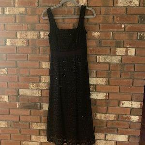 Francesca's Sequin Black Maxi Dress